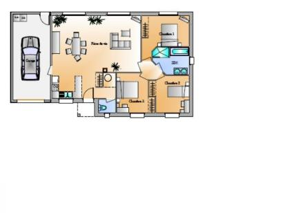 Plan de maison Avant projet Sainte Flaive Des Loups - 3 chambres 3 chambres  : Photo 1