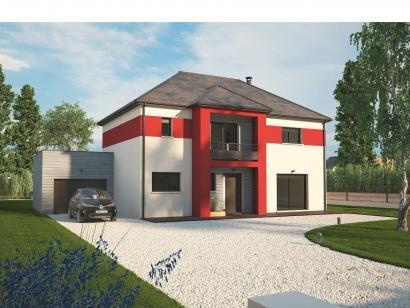 Modèle de maison Contemporaine 160 4 chambres  : Photo 1