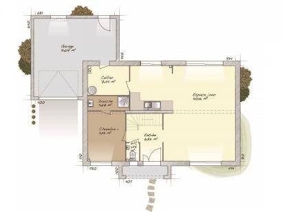 Plan de maison Contemporaine 160 4 chambres  : Photo 1