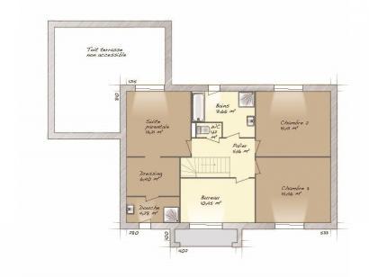 Plan de maison Contemporaine 160 4 chambres  : Photo 2