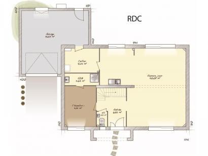 Plan de maison Contemporaine 186 4 chambres  : Photo 1
