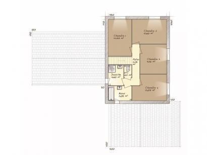 Plan de maison La Villa 170 5 chambres  : Photo 2