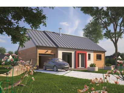 Modèle de maison Plain-pied 70 2 chambres  : Photo 1