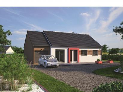 Modèle de maison Plain-pied 80 3 chambres  : Photo 1