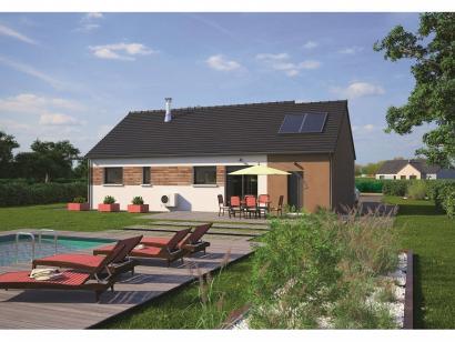 Mod le de maison plain pied 80 3 chambres maisons balency - Modele maison plain pied 3 chambres ...