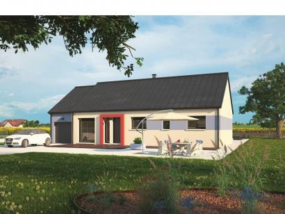 Modèle de maison Plain-pied 100L 3 chambres  : Photo 1