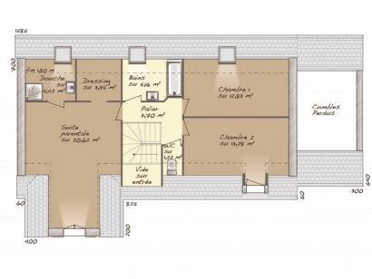 Plan de maison Tradition 133L 3 chambres  : Photo 2