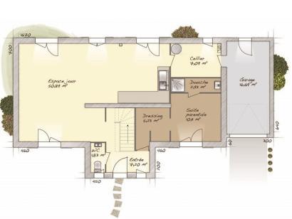 Plan de maison Tradition 145L 5 chambres  : Photo 1