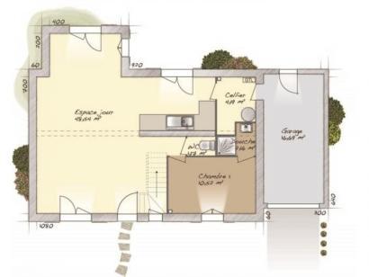 Plan de maison Tradition 114L 4 chambres  : Photo 1
