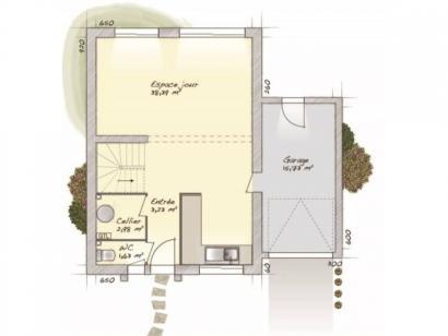 Plan de maison Urbaine GA 6.5 3 chambres  : Photo 1