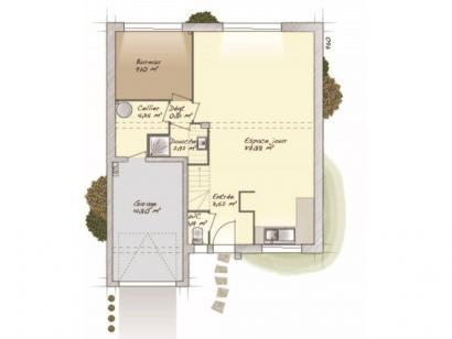 Plan de maison Urbaine GI 9 Encuvement 4 chambres  : Photo 1