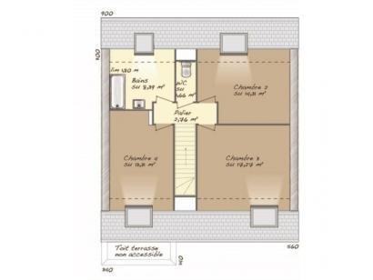 Plan de maison Urbaine GI 9 Encuvement 4 chambres  : Photo 2