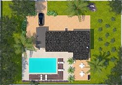 Tourmaline avec piscine vu aérienne