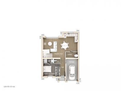 Plan de maison Léa V3 95 Tradition 3 chambres  : Photo 1
