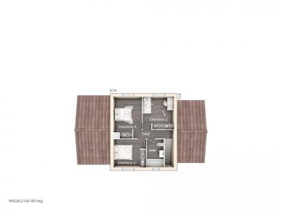 Plan de maison Magali 80 Design 3 chambres  : Photo 2