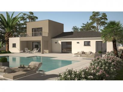 Mod le de maison clo 95 design toit plat 3 chambres for Modele maison toit plat