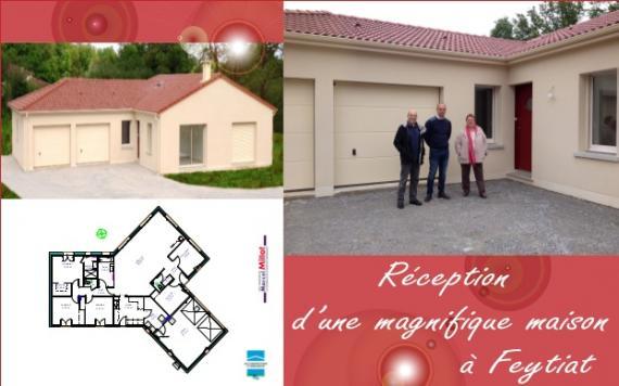 Maison plain pied double garage Feytiat