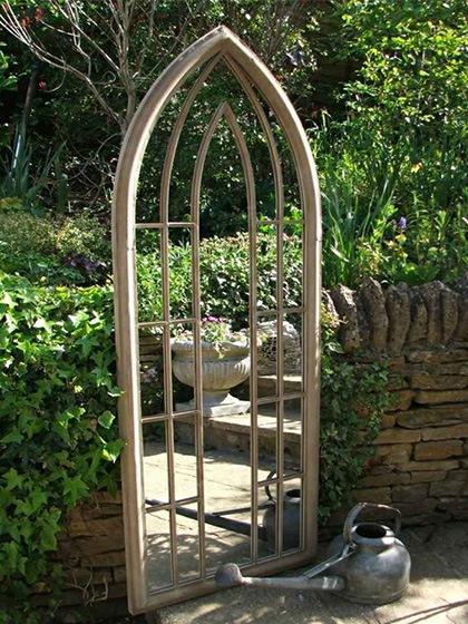 Miroir de jardin gothique