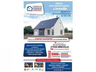 Visitez une maison RT2012 à IRREVILLE (27) les 24 et 25 septembre 2016