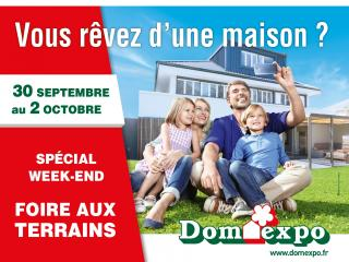 Foire aux terrains sur les 4 villages Domexpo d'Ile-de-France du 30 septembre au 2 octobre 2016
