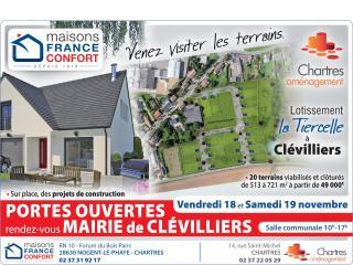 Portes ouvertes à Clévilliers (28) - Lotissement la Tiercelle - 18 et 19 novembre 2016