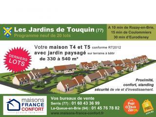 Devenez propriétaire à Touquin (77) - lotissement de 20 maisons dans un joli village à l'est de Paris