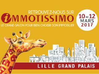Salon Immotissimo Lille Grand Palais (59) du 10 au 12 mars 2017.