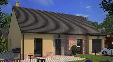 Plan de maison Aquarelle 75 par Maisons France Confort