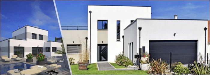 Plan de maison moderne par Maisons France Confort