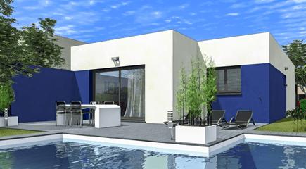 Plan de maison moderne Rubic par Maisons France Confort
