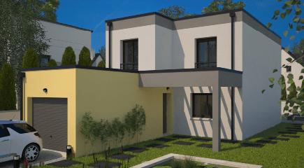 Plan de maison moderne City par Maisons France Confort