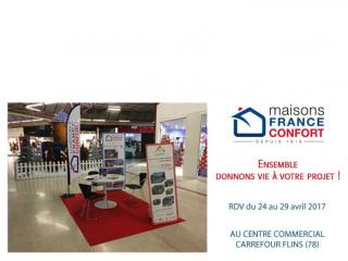 Retrouvez-nous au Centre Commercial Carrefour de Flins (78)