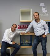 Michaël Bertini à gauche, assis Fabien Bertini à droite, debout