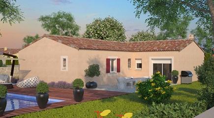 Nature Plan de maison plain pied de 4 chambres par Maisons France Confort