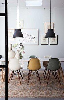 Chaises Eames by Vitra  -  Photo : Dana van Leeuwen- P