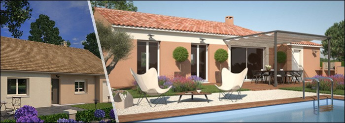 les plans de maisons plain pied avec 3 chambres de maisons france confort. Black Bedroom Furniture Sets. Home Design Ideas