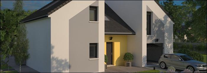 Concept 130 une maison en cube signée Maisons Franc Confort