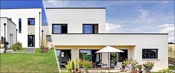 Le plan d'une maison cubique