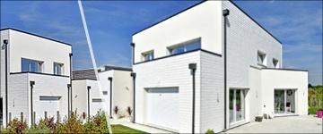 Exemples de plans de maisons au toit plat