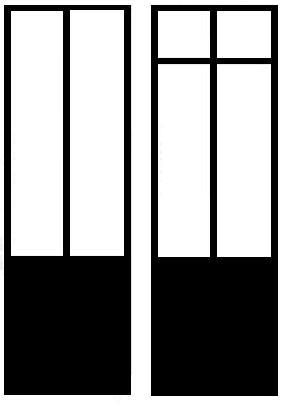 La verrière avec un soubassement (avec ou sans imposte).