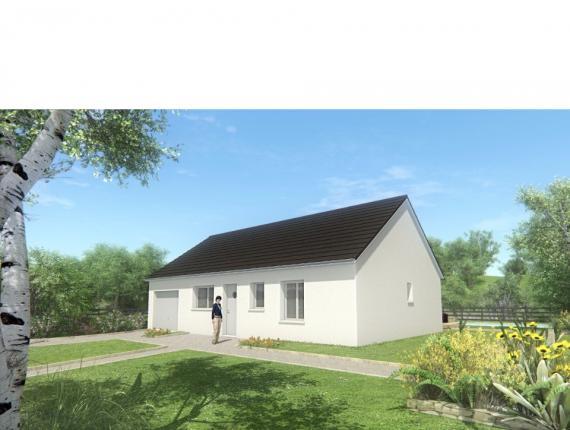 Modèle de maison MAISON DE PLAIN PIED - 66 M2 - CORRÈZE - ACACIA 4 : Photo 1