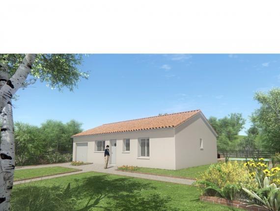 Modèle de maison MAISON DE PLAIN PIED - DE 66 M 2 - HAUTE-VIENNE AC : Photo 1