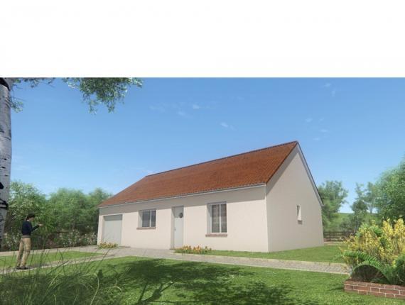 Modèle de maison MAISON DE PLAIN PIED - 66 A 76 M2 - CREUSE - ACACI : Photo 1