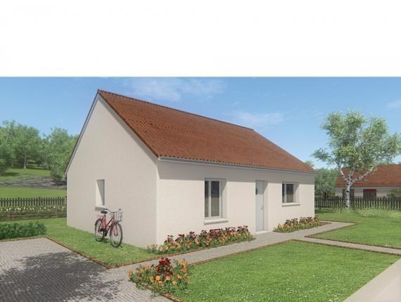 Modèle de maison MAISON DE PLAIN PIED- 66 A 76 M2 - CREUSE - ACACIA : Photo 1