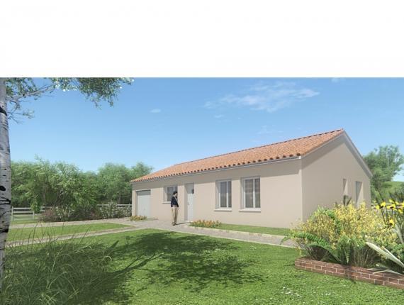 Modèle de maison MAISON DE PLAIN PIED - 75 M2 - HAUTE-VIENNE - ACAC : Photo 1