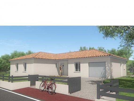 Modèle de maison MAISON DE PLAIN PIED - 102 M2 - HAUTE-VIENNE - LAN : Photo 1
