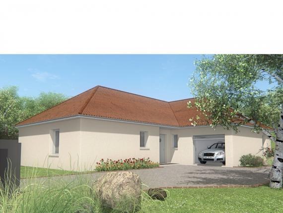 Modèle de maison MAISON DE PLAIN PIED - 102 M2 - CREUSE - LANDA 5 S : Photo 1