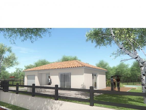 Modèle de maison MAISON DE PLAIN PIED - 78 M 2 - HAUTE-VIENNE - LEN : Photo 1