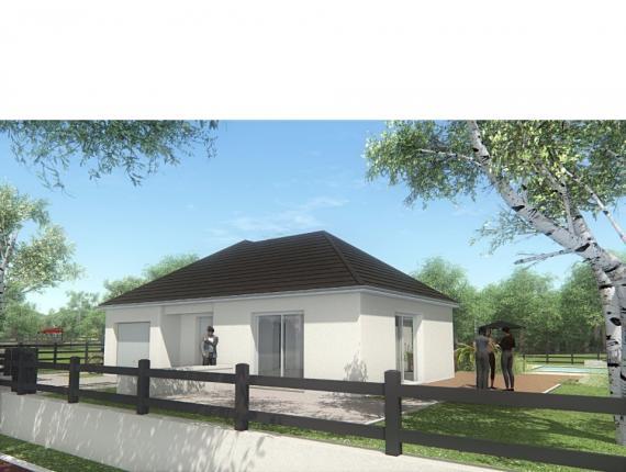 Modèle de maison MAISON DE PLAIN PIED - 78 M 2 - CORRÈZE, NORD DU L : Photo 1
