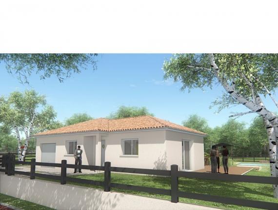 Modèle de maison MAISON DE PLAIN PIED - 90 M 2 - HAUTE-VIENNE - LEN : Photo 1